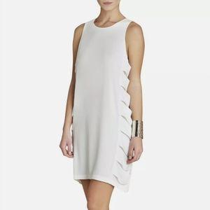 Bcbgmaxazria white eren cutout sleeveless dress